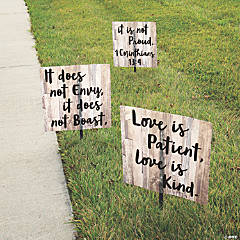 Love is Patient Wedding Yard Sign Set