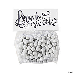 Love Is Sweet Cellophane Treat Bags with Topper