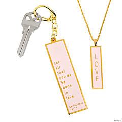 Love Pendant & Key Ring Set