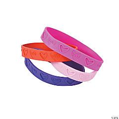 Love Rubber Bracelets