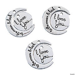 Love You to the Moon Split Charms