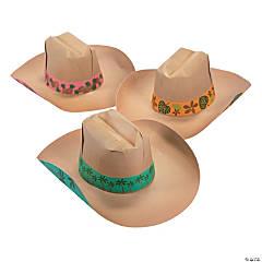 Luau Cowboy Paper Hats