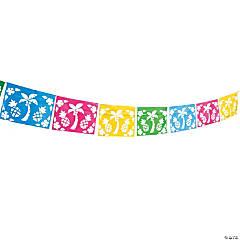 Luau Cut-Out Pennant Banner