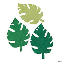 Luau Glitter Palm Leaf Cutouts