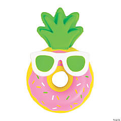 Luau Pineapple Scented Donut Slow-Rising Squishy