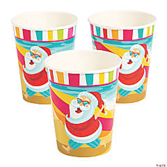 Luau Santa Paper Cups