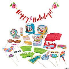 Luau Santa Party Kit for 24
