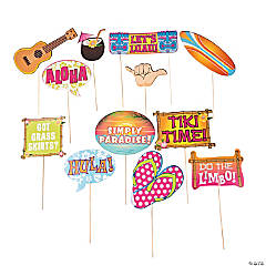 Luau Sayings Photo Stick Props
