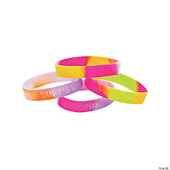 Luau Sayings Silicone Bracelets