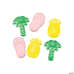 Luau-Shaped Candy Fun Packs