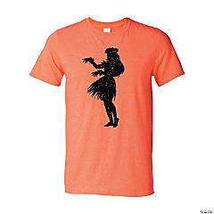 Luau Silhouette Adult's T-Shirt - Extra Large
