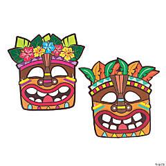 Luau Tiki Paper Masks