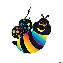Magic Color Scratch Bee Ornaments