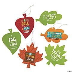 Magic Color Scratch Bible Verse Leaf Ornaments
