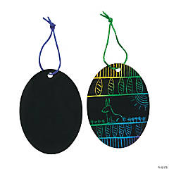 Magic Color Scratch Easter Egg Ornaments