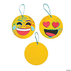 Magic Color Scratch Emoji Ornament Craft Kit