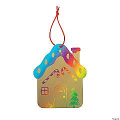 Magic Color Scratch Gingerbread House Ornaments