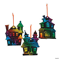 Magic Color Scratch Haunted House Halloween Ornaments