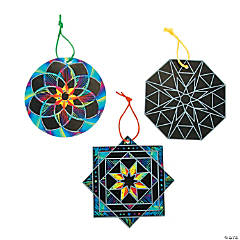 Magic Color Scratch Kaleidoscope Ornaments