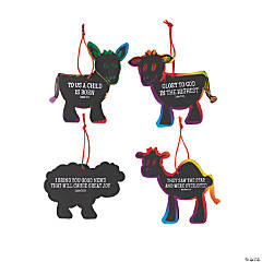 Magic Color Scratch Nativity Animal Ornaments