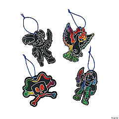 Magic Color Scratch Pirate Ornaments