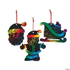 Magic Color Scratch Santa Christmas Ornaments