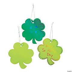 Magic Color Scratch Shamrock Ornaments