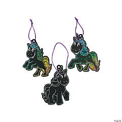 Magic Color Scratch Unicorn Ornaments