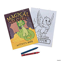 Magical Creatures Activity Books with Crayons