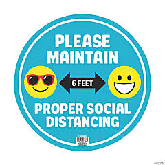 Maintain Social Distance Non-Skid Floor Cling