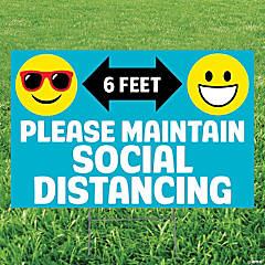 Maintain Social Distance Yard Sign