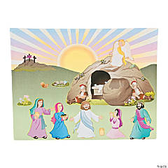 "Make An Easter ""He Lives!"" Sticker Scenes"