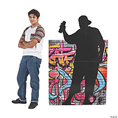 Male Graffiti Artist Silhouette Stand-Up
