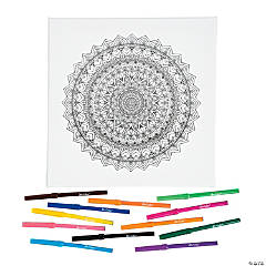 Mandala Coloring Canvas Kit
