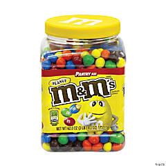 M&M's Milk Chocolate Peanut Candies Jar, 62 oz