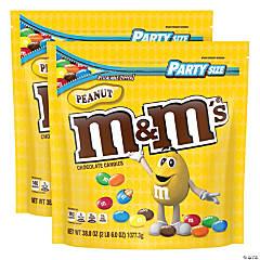 M&M's Party Bag Peanut, 38 oz, 2 Pack