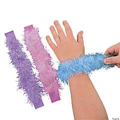 Marabou Iridescent Pastel Slap Bracelets