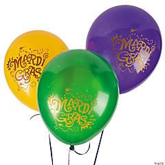 "Mardi Gras 11"" Latex Balloons"