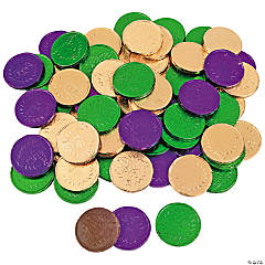 Mardi Gras Coins Chocolate Candy