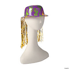 Mardi Gras Derby Hats with Tinsel