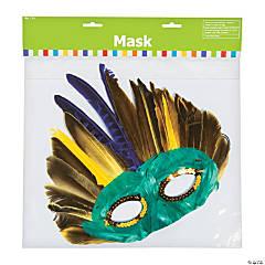 Mardi Gras Feather Mask Assortment