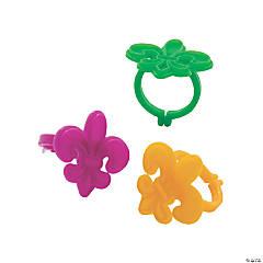 Mardi Gras Fleur de Lis Rings