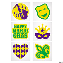 Mardi Gras Glitter Temporary Tattoos