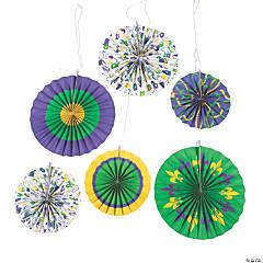 Mardi Gras Hanging Fan Decorations