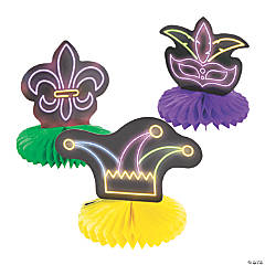 Mardi Gras Honeycomb Centerpieces