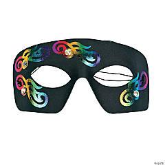 Mardi Gras Masks with Rhinestones