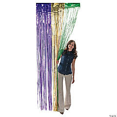 Mardi Gras Metallic Fringe Door Curtain
