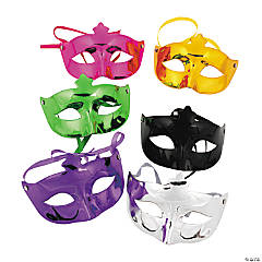 Mardi Gras Metallic Masks