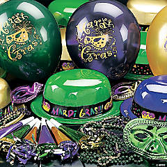 Mardi Gras Party Pack Assortment For 12