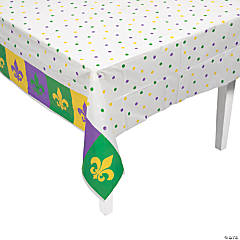 Mardi Gras Plastic Tablecloth